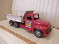 1955 BUDDY L Hydraulic Ford Dump Truck Pressed Steel Toy
