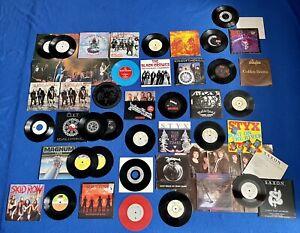 "208x 7"" Vinyl Job Lot Record Collection Indie Rock Pop Punk New Wave Heavy Metal"
