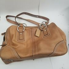 COACH Brown/Tan Leather Carryall Large Weekender Shoulder Bag #10581