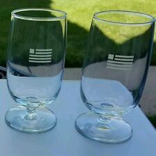 US AIRWAYS pair of 2 wine glasses - NEW....right out of the case