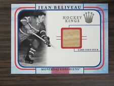 2001-02 Fleer Legacy Hockey Kings Jean Beliveau Stick Card B7 Montreal Canadiens