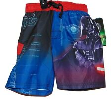 STAR WARS DARTH VADER SWIMSUIT TRUNK SIZE 4 CHILD NWT MESH LINER