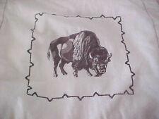 Embrodered Buffalo Flanged Pillow Sham