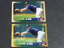 Lot (2) 1995 Score MLB JIM THOME #229 GOLD RUSH & Base Cleveland Indians