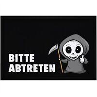 Fußmatte mit Spruch Bitte abtreten Sensemann lustiges Wortspiel rutschfest &