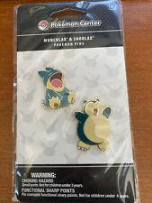 Pokemon Center Snorlax & Munchlax Pin Set New