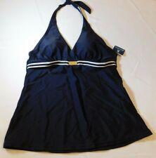 Baltex Nautical Women's Ladies Tankini Top Swim Bathing Top Size 8 Navy Blue NWT