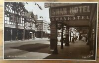 Vintage Postcard Chester Swan Hotel Early Real Photo