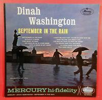 DINAH WASHINGTON SEPTEMBER IN THE RAIN LP 1961 MONO NICE CONDITION! VG/VG+!!
