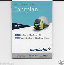 NORDBAHN GERMAN RAILWAY HAMBURG FAHRPLAN TIMETABLE 2015 ITZEHOE WRIST ALTONA