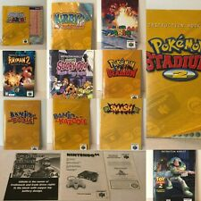 Nintendo 64 Instruction Booklets Game Manuals Only CHOICE of N64 Inserts