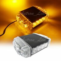 "7"" 14W Amber LED Warning Emergency Beacon Strobe Hazard Roof Top Mini Light Bar"
