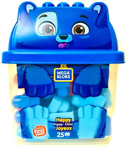 Mega Bloks Happy Puppy First Builders 25 Pieces Building Set Age 1 Year & Up