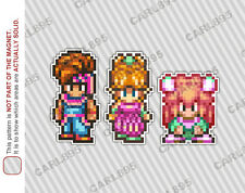 16bit Secret of Mana Hero Cast Car/Refrigerator Magnets Seiken Densetsu 2
