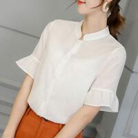 Shirt Fashion Loose T-Shirt Blouse Chiffon Ladies Summer Short Sleeve Women Top