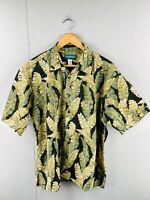 Cooke Street Honolulu Men's Vintage Short Sleeve Hawaiian Shirt Size XL Green