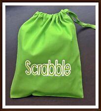 Scrabble tile Lettera di ricambio Cotone Coulisse Borsa Regalo Natale Board Game NUOVO