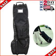 Golf Bag Travel Covers Hard Case Club Wheels Rolling Protector Waterproof Padded