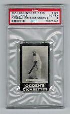 PSA 4  W.G. GRACE  Cricket Card 1901 Ogden Cigarettes #126