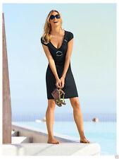 Knielange Damenkleider mit V-Ausschnitt aus Jersey