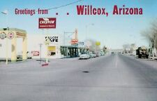 Wilcox,Arizona,Highway 86,Chevron Gas,Cafe,Vintage Cars,Cochise Co.c.1950s