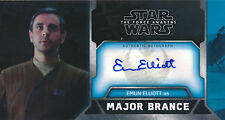 Topps Star Wars The Force Awakens 3D Wide-vision Emun Elliot Auto Card WVA-EE