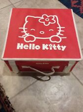 Vintage Sanrio Hello Kitty storage box -  multi-purpose , Rare   # red
