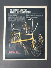 1969 Raleigh Chopper Redline Tires Bicycles~Bikes Toy Memorabilia Trade Ad