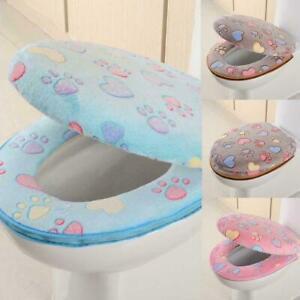 Soft Warmer Bathroom Toilet Seat Closestool Washable Cover Cushion Pad Mat R1Y2