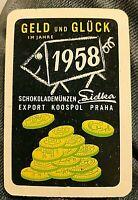 *RAR* 1958 Taschenkalender Schokoladenmünzen Sidka DDR Prag CSSR Praha Ostalgie