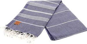 Gold Case 100% Cotton pestemal Bath Beach Turkish Towel Throw 39x70 Dark Blue