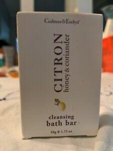 CRABTREE & EVELYN CITRON HONEY & CORIANDER Bath SOAP BAR  50g/1.75oz