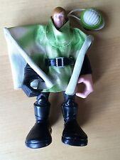 """2004 Luke Skywalker 6"""" figure Force Battler Jedi & cloak helmet Star Wars Hasbro"""