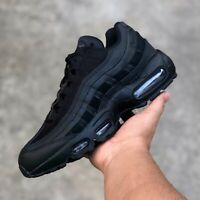 Nike Air Max 95 Triple Black Men's Shoes Size 6 / Women's 7 .5 90 97 270 1 Force