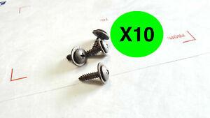 HONDA ACURA mud flap splash guard bumper screws (qty 10) OEM a202
