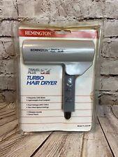 Vintage 1988 Remington Hair Dryer Travel Plus Turbo 1200W  Dual Voltage & Pouch