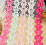1 Yards Butterfly Pearl Lace Trim Wedding Bridal Ribbon Applique Sewing Crafts