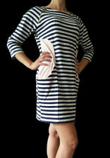 Boat Neck Casual Striped Regular Size Dresses for Women