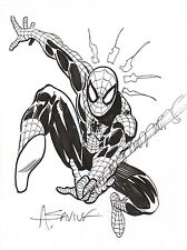 Alex Saviuk Original Marvel Comic Art Sketch ~ The Amazing Spiderman