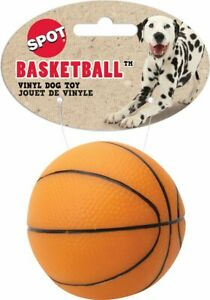 Spot Pet Vinyl Basketball Squeaky Dog Chew Toy, Color Varies,3-in  Free Shipping