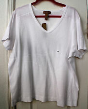Woman's 2X white 100% cotton shortsleeve top by i.e. Relaxed Woman NWT