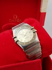 omega constellation ladies Gold and Steel boxed