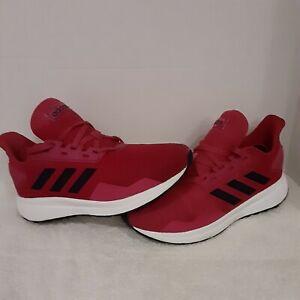 "Adidas Duramo 9 Junior Running Shoes, Girls fuchsia/pink youth/kids size ""3"""