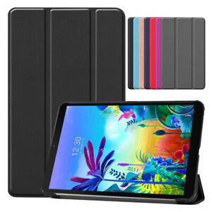 For LG G Pad 5 10.1 LM-T600L 2019 Folding Stand Leather Protective Case Cover