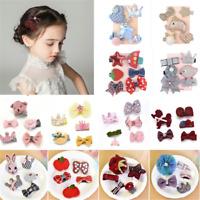 5PCS Kawaii Kids Baby Girl Hair Clips Bowknot Heart Crown Headwear Hairpins Gift