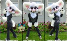 Partial Fursuit (Pastel Fennec Fox) head, paws, tail, mascot, costume, halloween