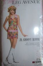 Paisley Groovy Hippie Costume Teen Junior S/M Leg Avenue Dress Cabbie Hat