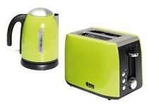Caravan Accessories - Quest  Low Wattage 1.2L Kettle & 2 Slice Toaster Green