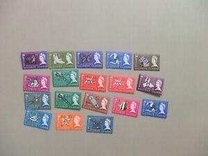 15% stamps British Solomon Is MLH OVERPRINT set #149-166Scott $23.20
