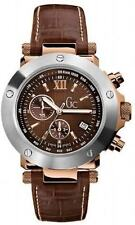 Guess Collection Men's Gc-1 G45003G1 Brown Leather Quartz Watch with Brown Dial